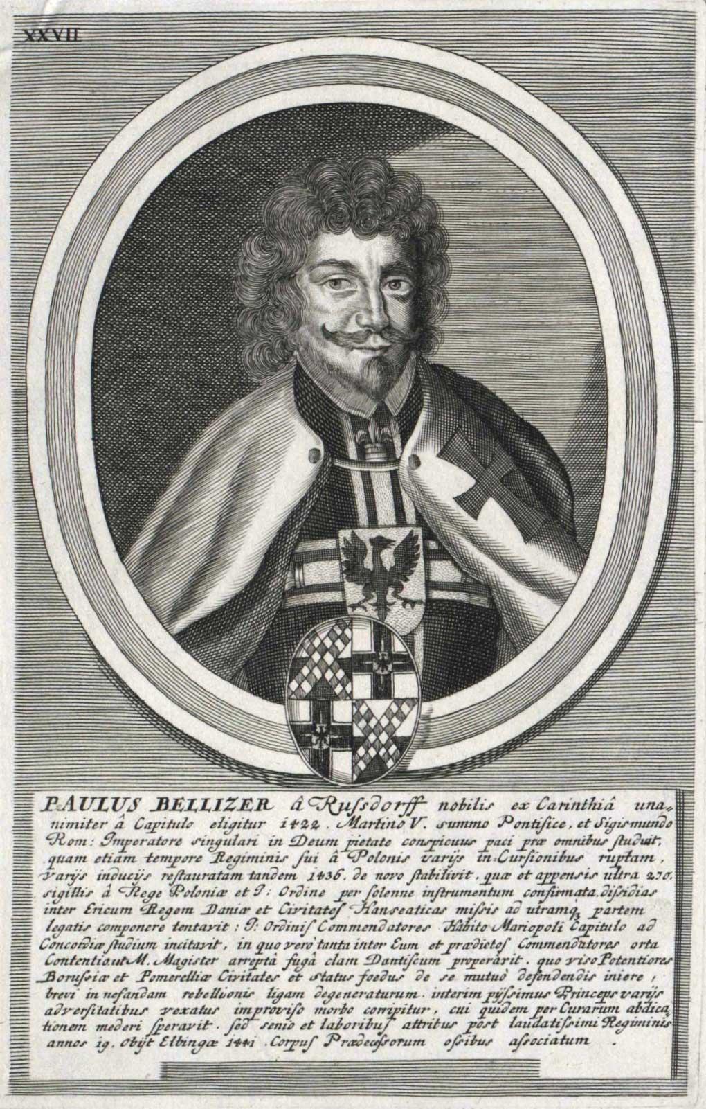 Paul de Rusdorf, Grand-Maître de l'Ordre teutonique de 1422 à 1441